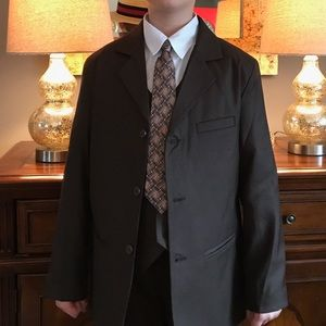 Other - Brown boys 3 piece suit, size 14